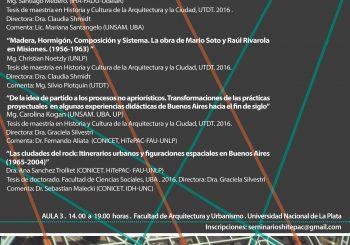 Jornada de Discusión de tesis de maestría y doctorado