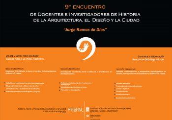 Convocatoria de ponencias: IX Encuentro de Docentes e Investigadores de Historia de la Arquitectura, el Diseño y la Ciudad