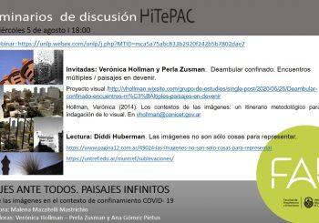 Seminarios de discusión: PAISAJES ANTE TODOS. PAISAJES INFINITOS El uso de las imágenes en el contexto de confinamiento COVID- 19