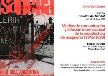 Convocatoria:  Dossier «Medios de comunicación y difusión internacional de la arquitectura de postguerra (1945-1980)»